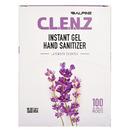 Alpine Industries CLENZ - 2ml Instant GEL Hand Sanitizer packets - Lavender scent - 100/Case