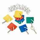 Adir Corp. 689-20-COLORED Hanging Key Tags with Snap Hooks 20-Pack, Assorted