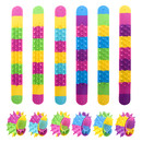 TOPTIE 24 Pcs Spiky Silicone Slap Bracelets Soft Wristbands Stress Relief Fidget Sensory Toys