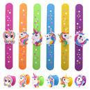 GOGO 24 Pcs Unicorn / Flamingo Silicone Slap Bracelets Wristbands Party Supplies Rewards Goodie Bag