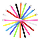 TOPTIE 8mm Silicone Slide Bracelet Wristband Adjustable Strap Bands Jewelry Making Charms DIY Supply