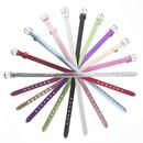 TOPTIE 8mm PU Leather Slide Bracelets Wristbands Adjustable Strap Bands for Slide Letters DIY Supply