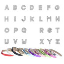 TOPTIE Letter Slide Charms and PU Leather Slide Strap Bracelets Wristbands 8mm Jewelry DIY Freely