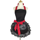 Aspire Lace Work Adjustable Apron Home Shop Kitchen Cooking Women Ladies Aprons with Pocket for Gift