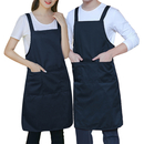 Aspire Plain Couple Aprons Solid Color Women Men's Apron with 3 Front Pockets Cafe Serving Favors