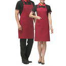 Aspire Adjustable Bib Apron with 2 Pockets Solid Color Cooking Kitchen Couple Aprons for Women Men Chef