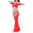 BellyLady Belly Dance Tribal Elastic Silver Coin Belt, Gypsy Egyptian Jewelry