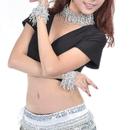 BellyLady Belly Dance Gypsy Tribal Elastic Bracelets & Necklace Set