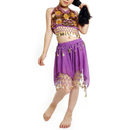 Wholesale BellyLady Kid Egyptian Belly Dance Costume, Skirt & Halter Top Sets, Purple