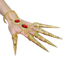 BellyLady Belly Dance Gypsy Egyptian Bracelet With Gold Finger Nails