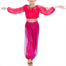 BellyLady Kid Tribal Belly Dance Costume, Harem Pants & Top For Halloween