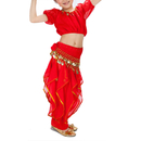 2 SETS Wholesale BellyLady Kid Belly Dance Halloween Costume, Harem Pants & Short Sleeve Top Set
