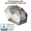 EuroSCHIRM 3F32SI17 Light Trek Automatic Flashlite Umbrella, Silver Uv-Protection 50+