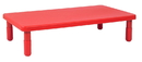 Angeles AB705PR12 Value Rectangle Table - Candy Apple Red with 12