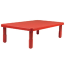 Angeles AB705PR14 Value Rectangle Table - Candy Apple Red with 14