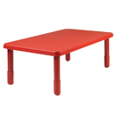 Angeles AB705PR18 Value Rectangle Table - Candy Apple Red with 18