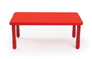 Angeles AB705PR20 Value Rectangle Table - Candy Apple Red with 20