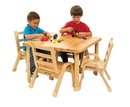 Angeles AB78002011 NaturalWood Collection Preschool Square Table & Chair Set