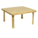 Angeles AB7800L16 Square NaturalWood Table Top with 16