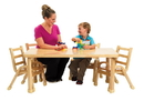 Angeles AB78102011 NaturalWood Collection Preschool Rectangle Table & Chair Set