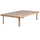 Angeles AB7810L12 Rectangle NaturalWood Table Top with 12