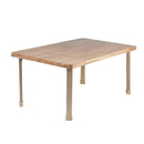 Angeles AB7810L22 Rectangle NaturalWood Table Top with 22