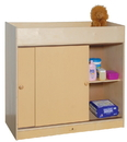 Angeles ANG1039P Changing Table with Doors
