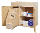 Angeles ANG1039S Changing Table with Slide-Out Steps
