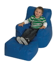 Children's Factory CF610-038 Cozy Chair and Ottoman - Blue