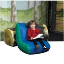 Children's Factory CF610-041 Preschool High Back Lounger - Blue/Green