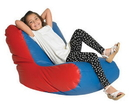 Children's Factory CF610-042 School Age High Back Lounger - Blue and Red
