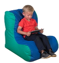 Children's Factory CF610-068 School Age High Back Lounger - Blue and Green