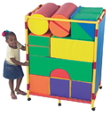 Children's Factory CF905-137 Soft Big Block Trolley - Set A