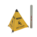 Handy Cone 17176I Caution Wet Floor English w/ Red Tube/Yellow/18