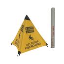 Handy Cone 17194I Caution Wet Floor English/Spanish w/tube/Yellow/18