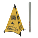 Handy Cone 31014D Caution Wet Floor English/Spanish/Yellow/31