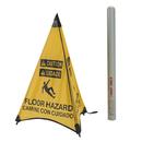 Handy Cone 31018D Caution Floor Hazard English/Spanish/Yellow/31