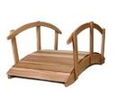 All Things Cedar FB144U-R 12' Garden Bridge/Rails