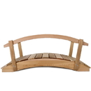 All Things Cedar FB48U-R 4' Garden Bridge/ Rails