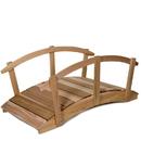 All Things Cedar FB72U-R 6' Garden Bridge/Rails