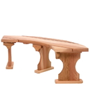 All Things Cedar QR60U Quarter Round Backless Bench