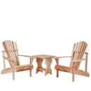 All Things Cedar ST24U-Set 3pc.Side Table Adirondack Set