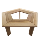All Things Cedar TB50U 5-Sided Tree Bench