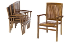 All Things Cedar TD24 Teak Stacking Chair