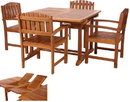 All Things Cedar TD72-20 5pc. Butterfly Dining Chair Set