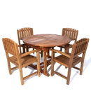 All Things Cedar TE70-20 5pc. Oval Dining Chair Set