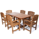 All Things Cedar TE90-20 7pc. Rectangle Dining Chair Set