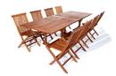 All Things Cedar TE90-22 9pc. Rectangle Folding Chair Set