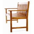 All Things Cedar TW80 Teak Wave Bench