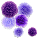 Aspire 36 Pcs Paper Pom Poms Mixed Purple Tissue Paper Flowers Wedding Party Decorations